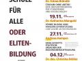 Plakat Semesterprogramm Überblick