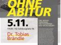 Plakat Vortrag Studieren ohne Abitur